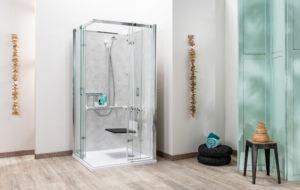 cabine de douche connectée