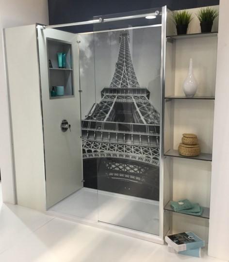 cabine de douche imprimée