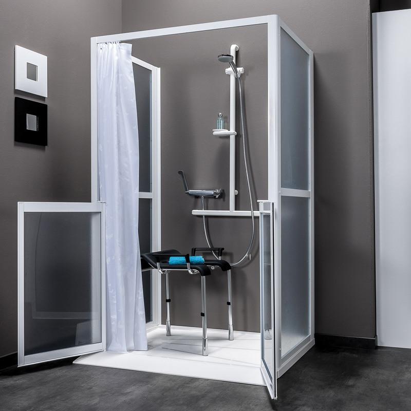 parois de douche acc s en fa ade collection idhraqua. Black Bedroom Furniture Sets. Home Design Ideas