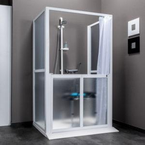 Idhraqua - Parois de douche installation en façade
