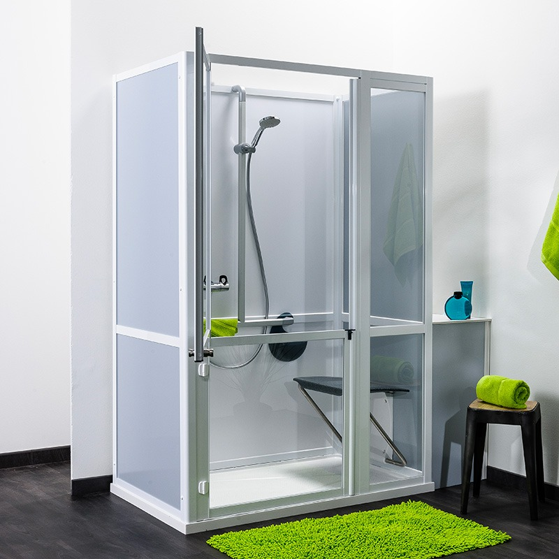 cabine de douche sur mesure collection idhraqua. Black Bedroom Furniture Sets. Home Design Ideas