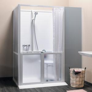 Idhraqua - Cabine de douche pour personne handicapée