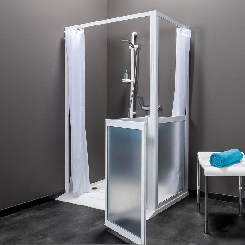 paroi de douche acc s en angle collection idhraqua. Black Bedroom Furniture Sets. Home Design Ideas