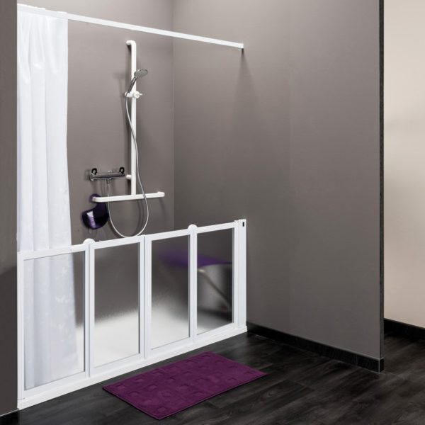 Idhraqua - Porte de douche mi-hauteur configuration en niche